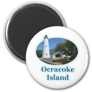 Isla de Ocracoke, Carolina del Norte Imán Redondo 5 Cm