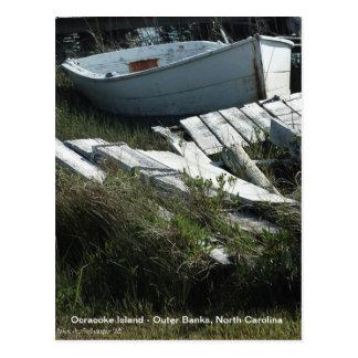 Isla de Ocracoke del barco de fila Postales