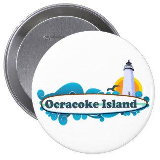 Isla de Ocracoke Pin Redondo De 4 Pulgadas