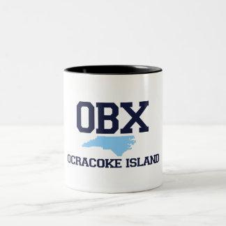 Isla de Ocracoke Taza De Dos Tonos