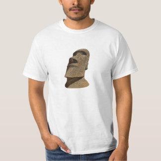 Isla de pascua Moai - camiseta del valor