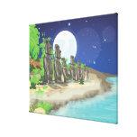 Isla de pascua Moai Impresión En Lona Estirada
