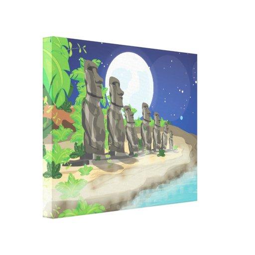 Isla de pascua Moai Impresiones De Lienzo