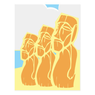 Isla de pascua Moai Tarjetas Postales
