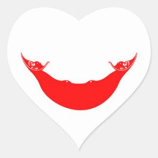 isla de pascua pegatina en forma de corazón