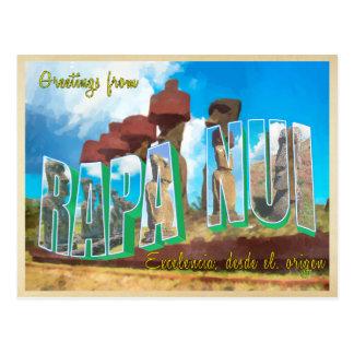 Isla de pascua (Rapa Nui) Postal