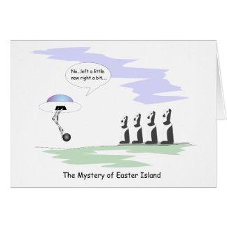 Isla de pascua tarjeta de felicitación
