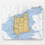 Isla de Pelee, carta náutica Mousepad de Ontario