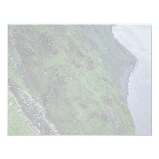 Isla de San Jorge, Pribilofs, altos pen¢ascos Invitacion Personalizada