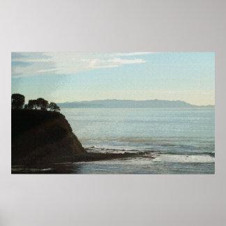 Isla de Santa Catalina de la bahía 30 x de Lunada  Póster