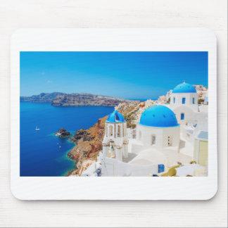 Isla de Santorini - caldera, Grecia Alfombrillas De Raton