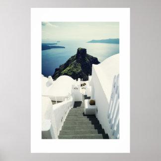 Isla de Santorini, Grecia Póster