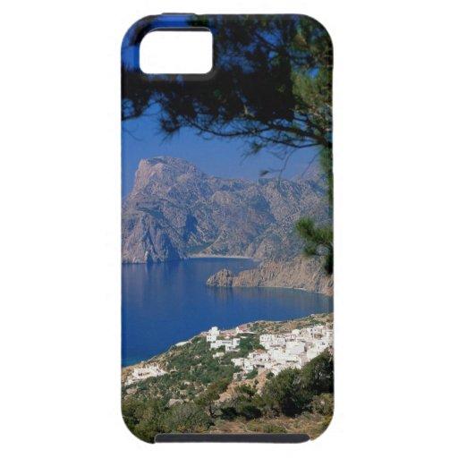 Isla de Santorini iPhone 5 Funda