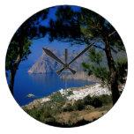 Isla de Santorini Relojes De Pared