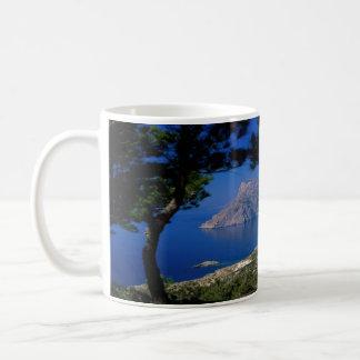 Isla de Santorini Taza Básica Blanca