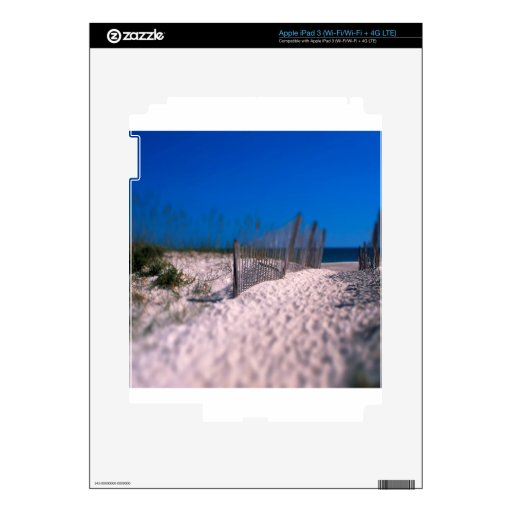 Isla de Shell de la playa iPad 3 Skins