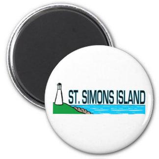 Isla de Simons del santo, Georgia Imán Redondo 5 Cm