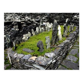 Isla de Skellig del cementerio Postal