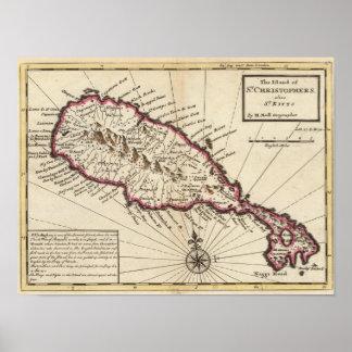 Isla de St Christophers Posters