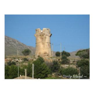 Isla de Tonara Sicilia Tarjeta Postal