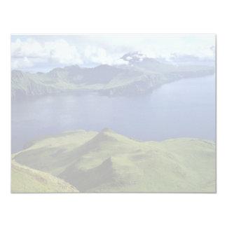 Isla de Uliaga, vista de Kagamil Island, 1987 Invitación 10,8 X 13,9 Cm