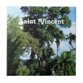 Isla de Vincent de santo Azulejo Cuadrado Pequeño