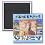 isla de Vincent, RECEPCIÓN AL PARAÍSO Imanes Para Frigoríficos