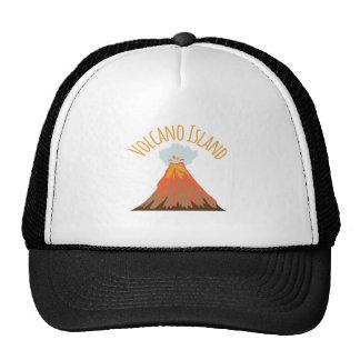 Isla de volcán gorro de camionero