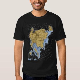 Isla de Washington, camiseta náutica de la carta Playera