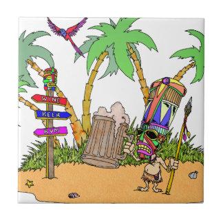 Isla del alcohol de Tiki Azulejos