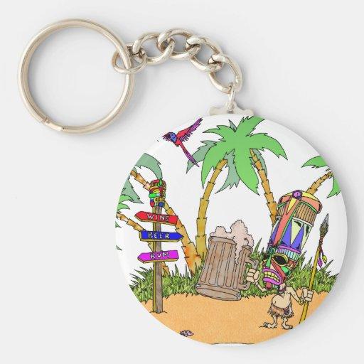 Isla del alcohol de Tiki Llaveros Personalizados