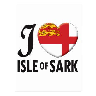 Isla del amor de Sark Tarjeta Postal