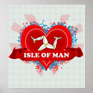 Isla del amor del vintage I del hombre Posters