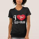 Isla del amor W del hombre Camisetas