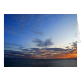 Isla del arco iris tarjeta de felicitación