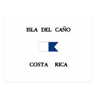 Isla del Caño Costa Rica Alpha Dive Flag Postcard