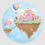 Isla del caramelo pegatina redonda