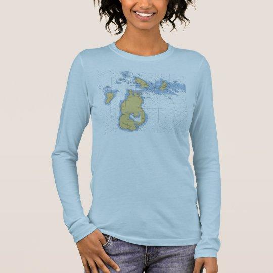 Isla del castor, camiseta náutica de la carta del