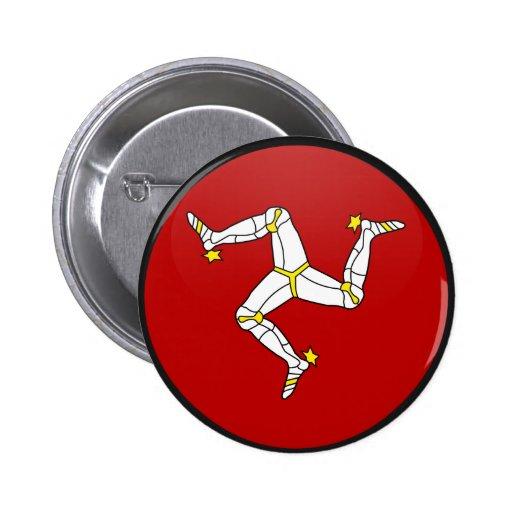 Isla del círculo de la bandera de la calidad del h pin redondo 5 cm