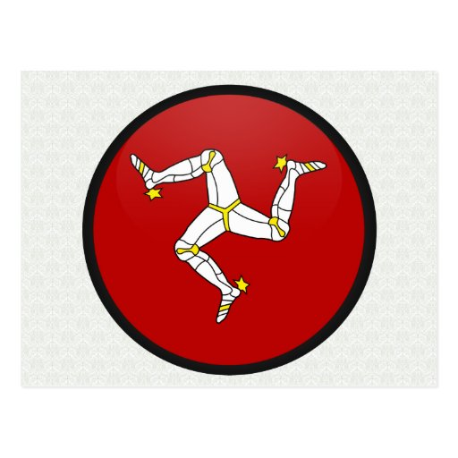 Isla del círculo de la bandera de la calidad del h tarjeta postal