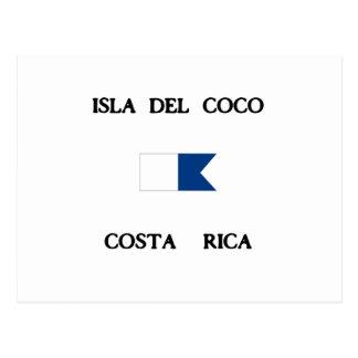 Isla Del Coco Costa Rica Alpha Dive Flag Postcard