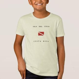 """""""Isla Del Coco"""" """"Costa Rica"""" Scuba Dive Flag T-Shirt"""