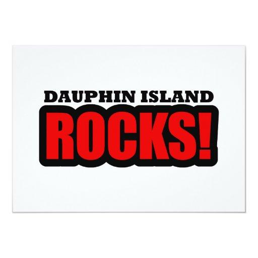 """Isla del delfín, Alabama Invitación 5"""" X 7"""""""