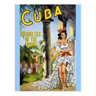ISLA DEL DÍA DE FIESTA DE CUBA DE LAS ZONAS POSTAL