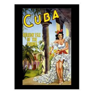 Isla del día de fiesta de Cuba de las zonas tropic Postal