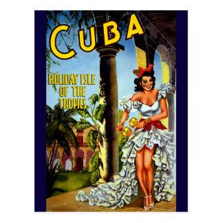 Isla del día de fiesta del viaje del vintage de tarjeta postal
