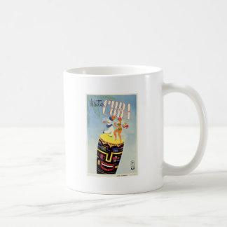 Isla del día de fiesta del vintage de la siesta de taza de café