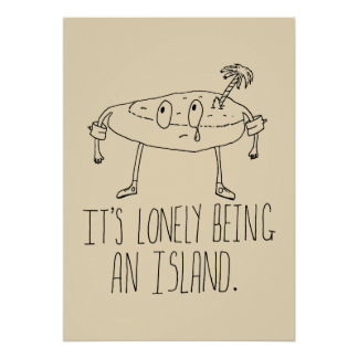 Isla del dibujo animado poster