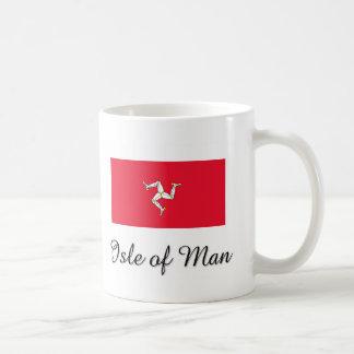 Isla del diseño de la bandera del hombre taza