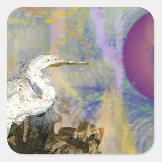 Isla del Egret Pegatina Cuadrada